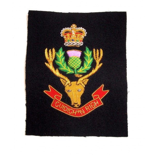 Queen's Own Highlanders Embroidered Blazer Patch
