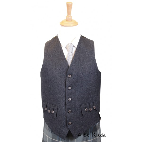 Charcoal Arrochar Tweed Waistcoat - Various Sizes