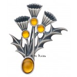Carrick Thistle Trio Brooch