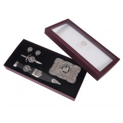 Select Gifts Livingston Scotland Heraldry Crest Heraldry Cufflinks Box Set Engraved