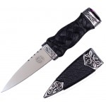 Sgian Dubh with Rope Handle and Top Stone