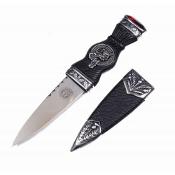 Sgian Dubh with Scottish Clan Crest