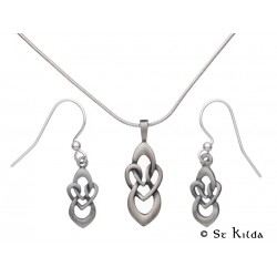 Carrick Celtic Knot Pendant and Earrings Set