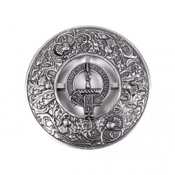 Plaid Brooch Caledonia Thistle Small Clan Crest