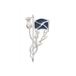 Carrick Thistle and Saltire Brooch