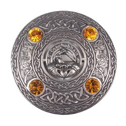 Plaid Brooch with Irish Clan Crest