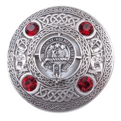 Plaid Brooch with Scottish Clan Crest