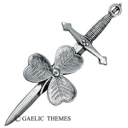 Kilt Pin Irish Shamrock Crest