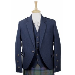 Braemar Tweed Jacket in Navy Arrochar