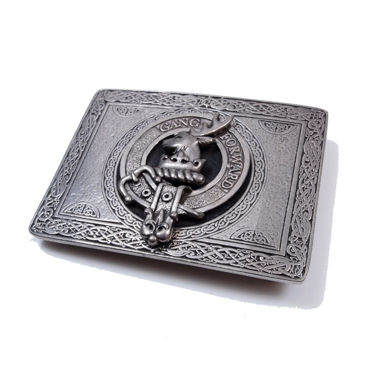 USA Kilts Armstrong Clan Crest Belt Buckle Made in Scotland