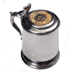 Lidded Tankard Irish Clan Crest