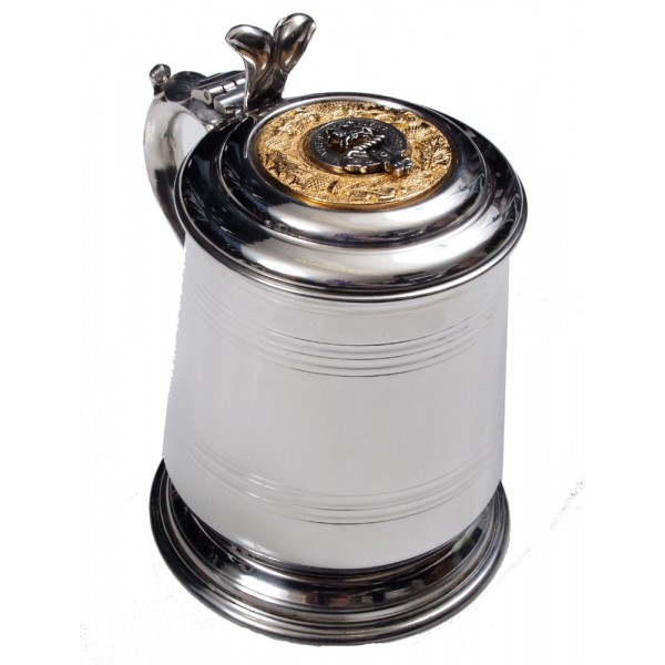 Lidded Tankard Scottish Clan Crest