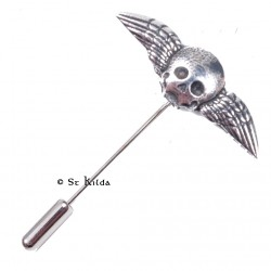 Lapel/Tie Pin - Winged Skull