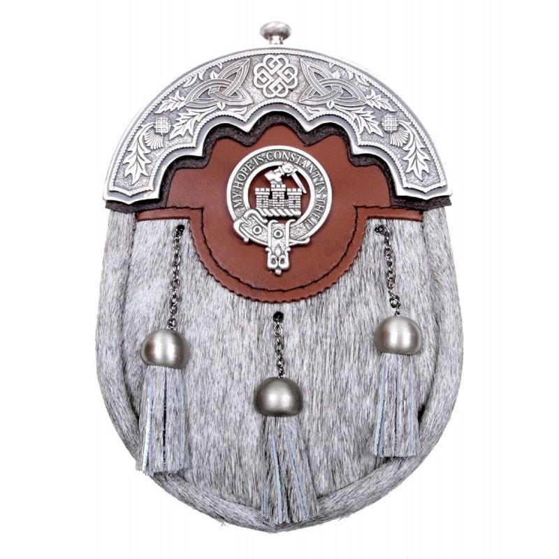 Baillie Scottish Clan Crest Badge Dress Fur Sporran